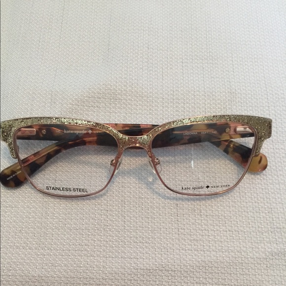 49271b466f kate spade Accessories - Kate Spade Gold Glitter Eye Glasses
